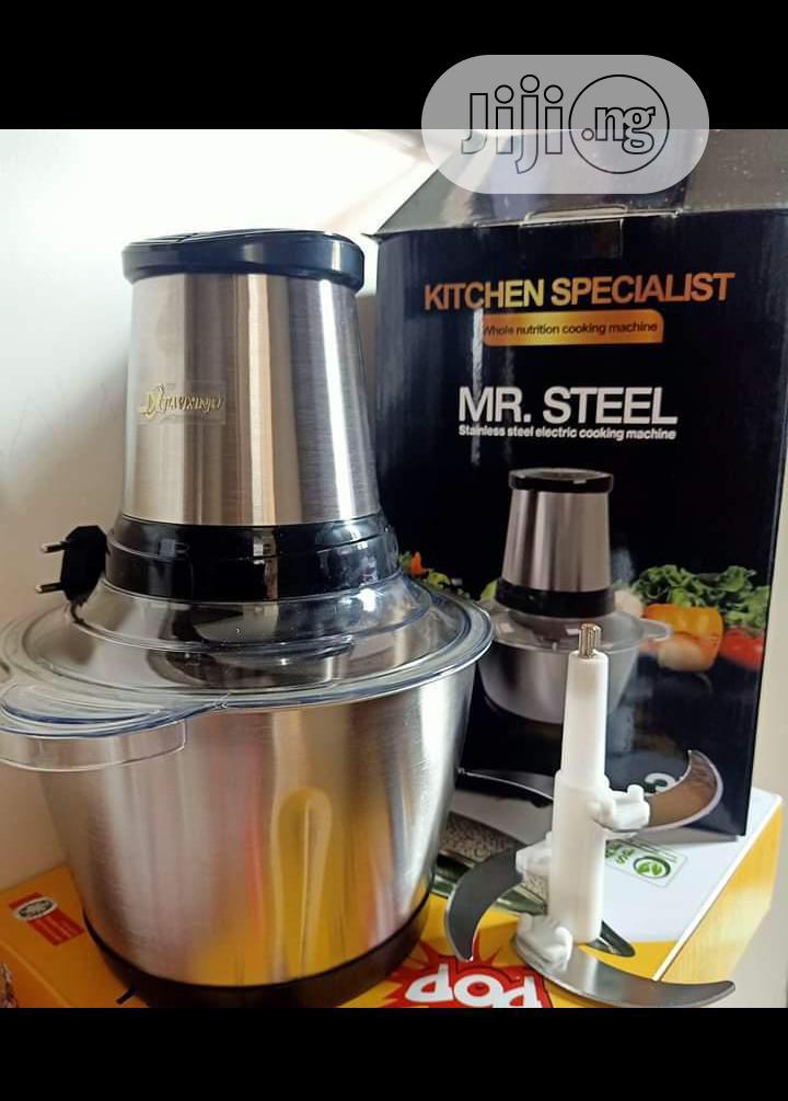 3L Mr Steel Electric Yam Pounder Food Processor (4blades)