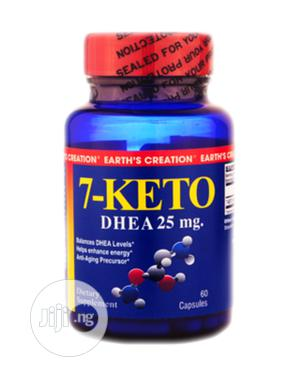 Earth Creation 7-Keto Dhea 25mg | Vitamins & Supplements for sale in Lagos State, Ojo