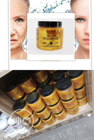 Glossy Professional Facial Gold Scrub - Anti-Aging, Wrinkles | Skin Care for sale in Lagos State, Apapa