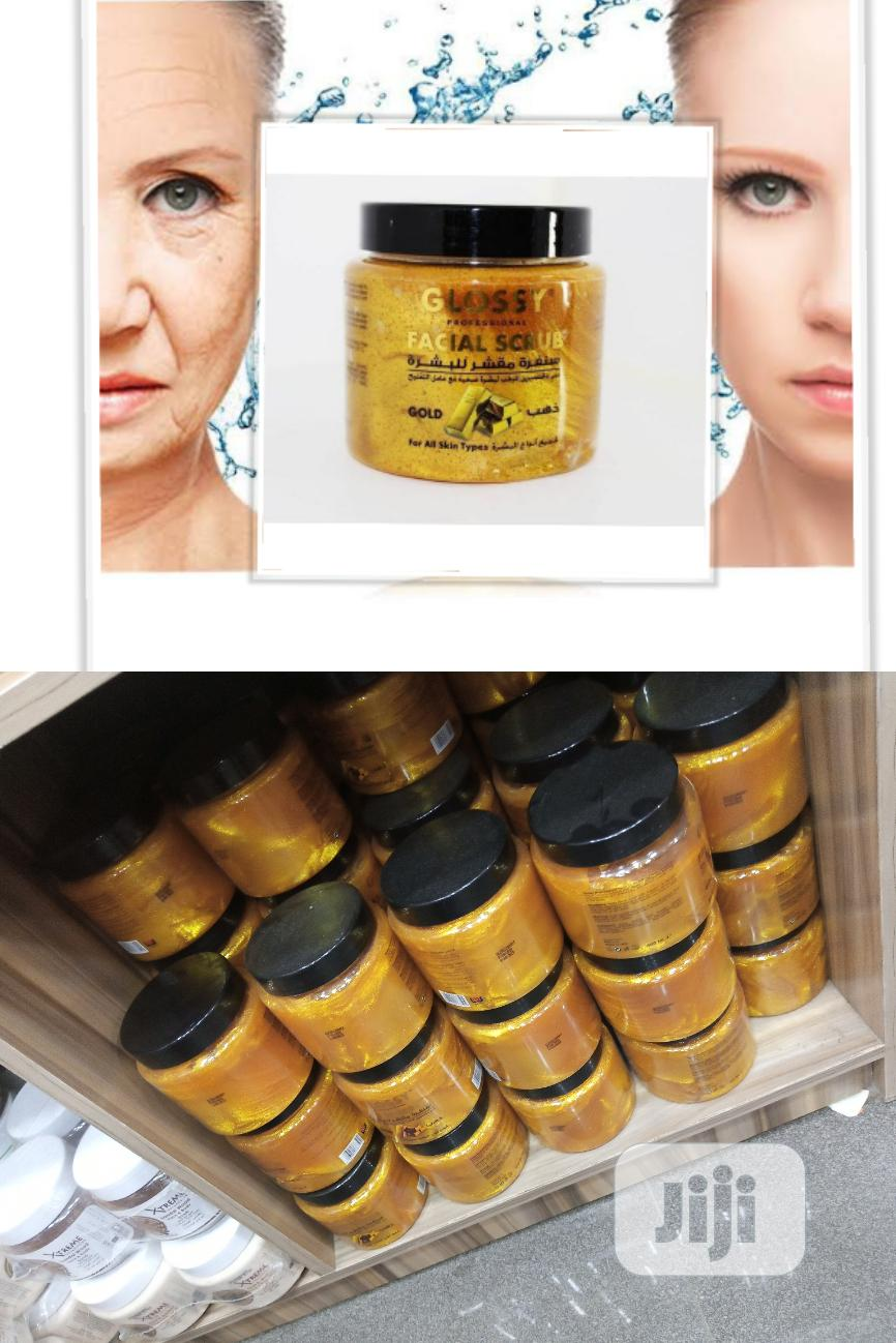 Glossy Professional Facial Gold Scrub - Anti-Aging, Wrinkles
