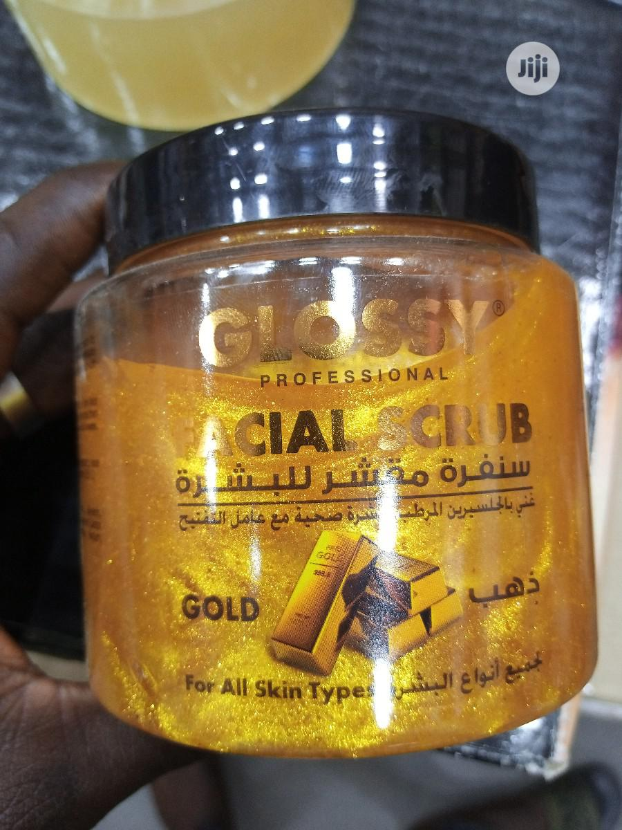 Glossy Professional Facial Gold Scrub - Anti-Aging, Wrinkles | Skin Care for sale in Apapa, Lagos State, Nigeria