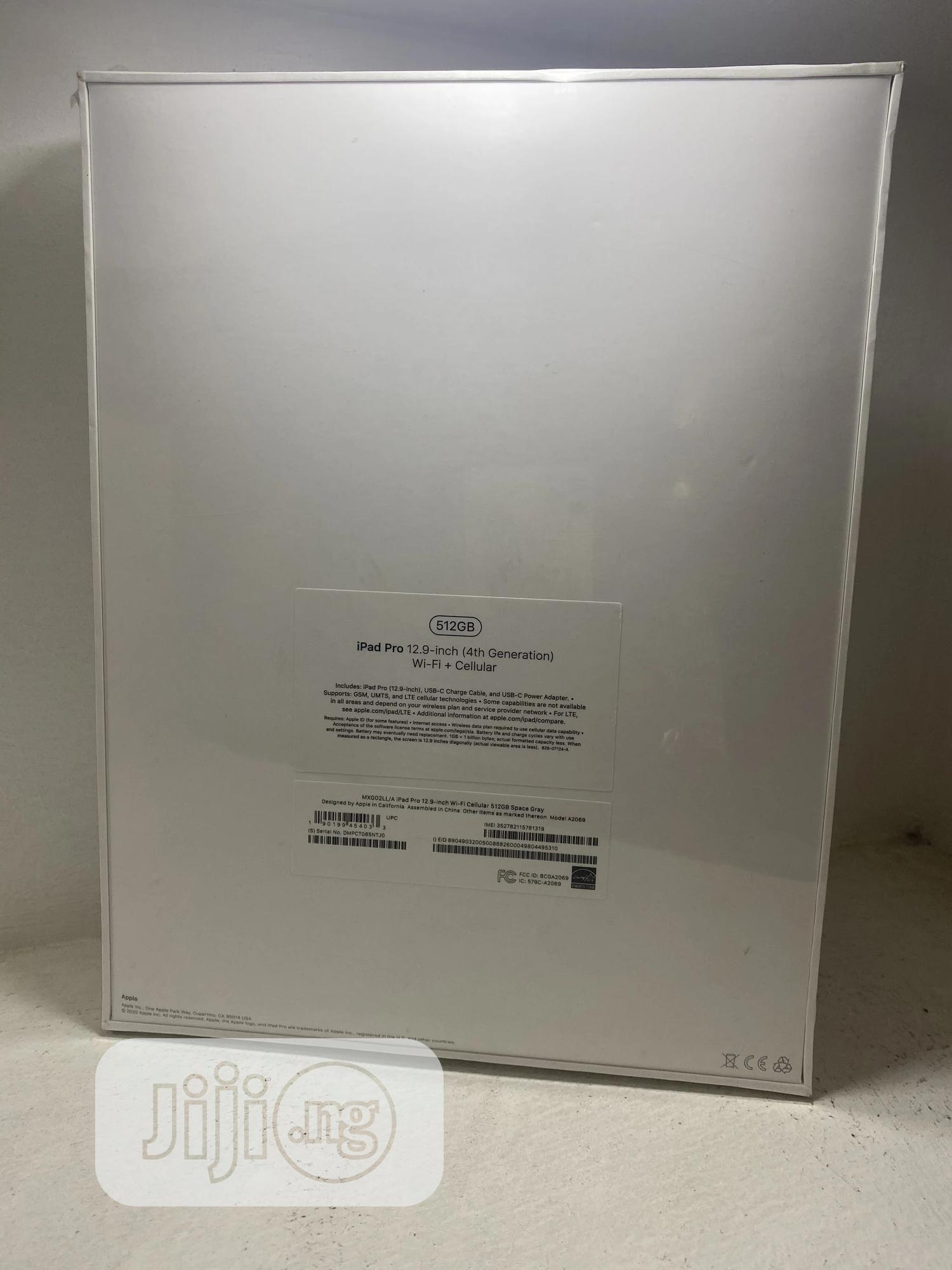 New Apple iPad Pro 12.9 (2020) 512 GB Gray   Tablets for sale in Ikeja, Lagos State, Nigeria