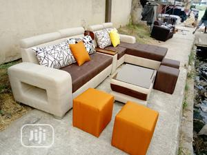 Standard L_shape With Center Table and Ottoman  | Furniture for sale in Lagos State, Ikeja