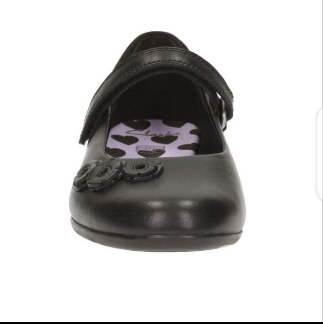 Clarks Black Girls School Shoes