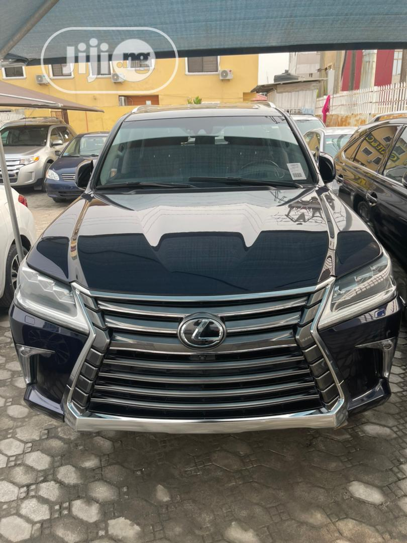 Lexus LX 2017 570 Base Blue | Cars for sale in Lekki, Lagos State, Nigeria