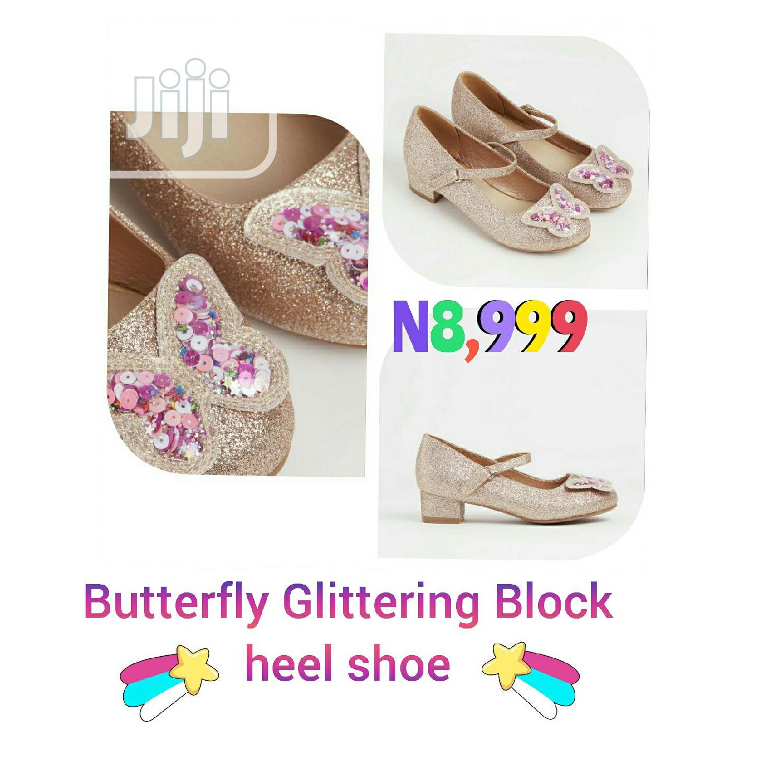 Archive: Butterfly Glittering Block Heel Shoe for Ur Princess