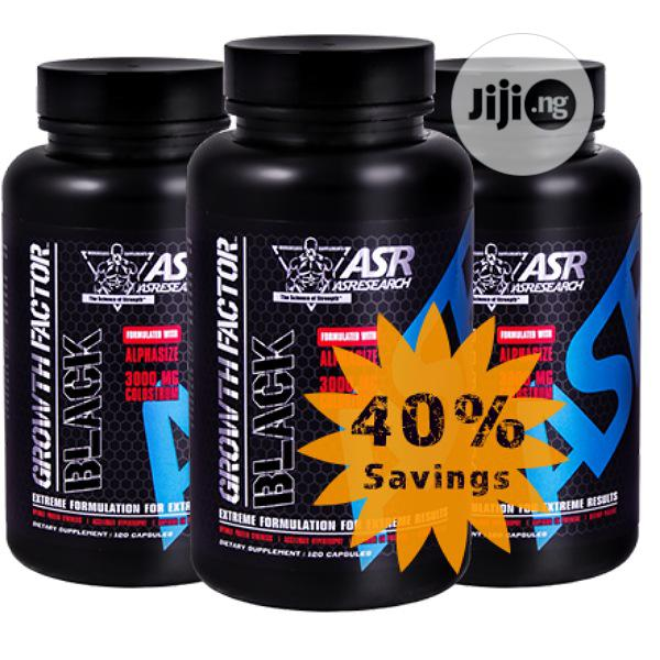 Original Asresearch Growth Factor Black Pre-Work | Vitamins & Supplements for sale in Ikoyi, Lagos State, Nigeria