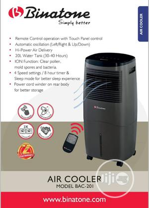 Binatone Air Cooler Model Bac-201,20l Water Tank, 8h Timer | Home Appliances for sale in Lagos State, Ojo