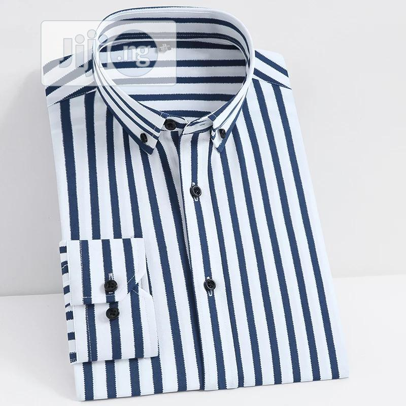 Archive: Quality Long Sleeve Stripe Men Shirt.