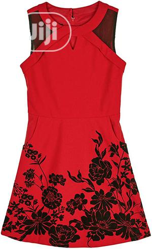 Amy Byer Red Dress With Black Flower Embroidery   Children's Clothing for sale in Lagos State, Alimosho