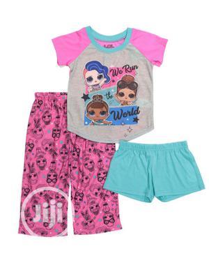 LOL Girls 3pcs Sleepwear | Children's Clothing for sale in Lagos State, Alimosho