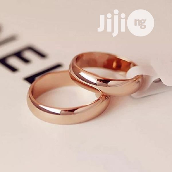 Archive: Wedding Ring, High Quality Couple Non-Fade Rose Gold Color