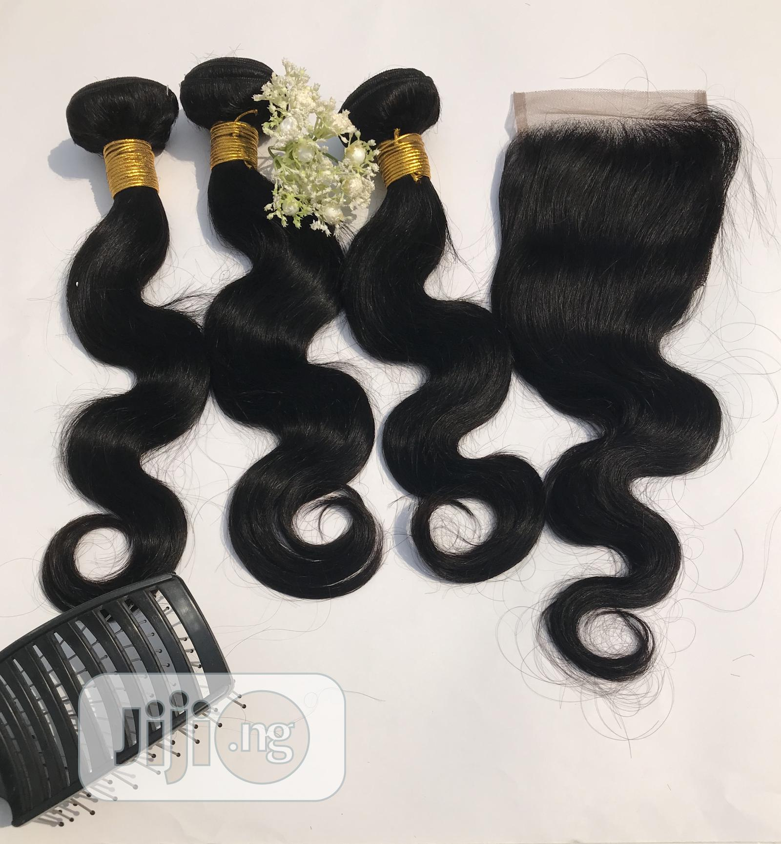 Body Wave,250g With a Matching Closure,Human Hair,16inches