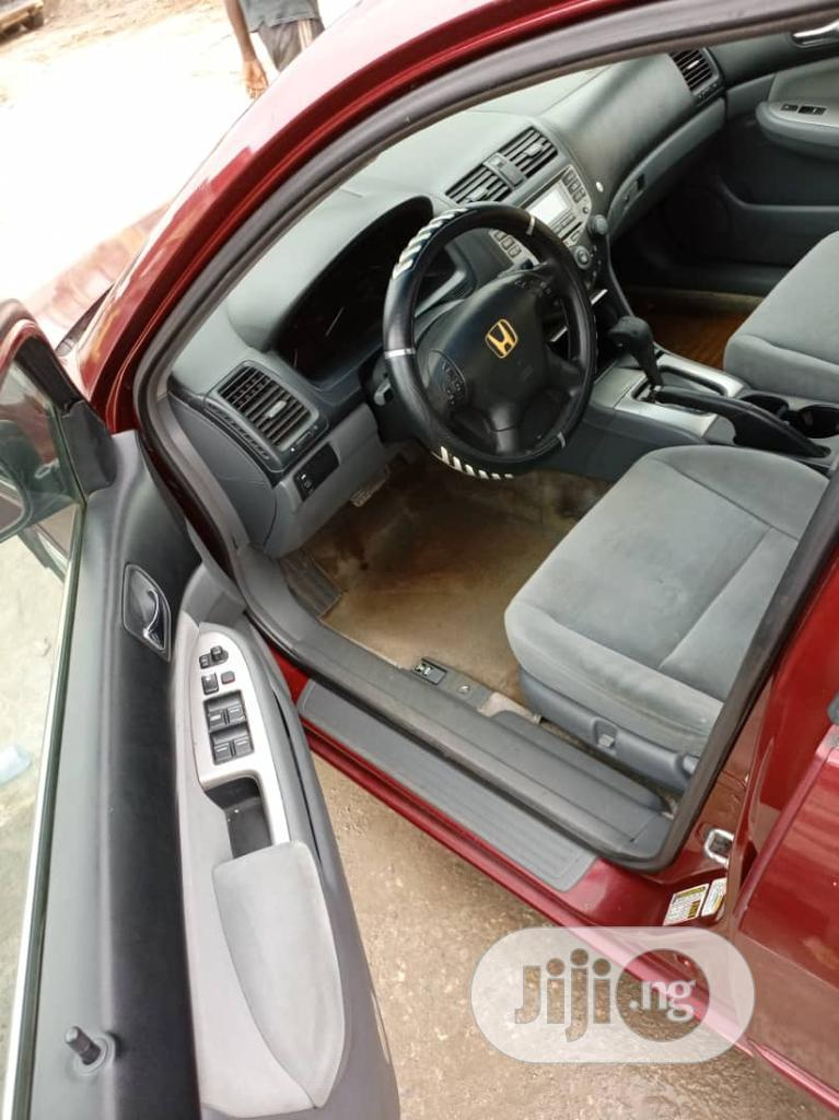 Honda Accord 2007 2.4 Exec Automatic Red | Cars for sale in Ikeja, Lagos State, Nigeria