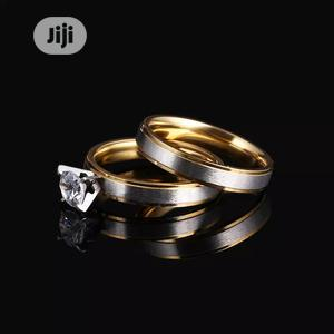 CACANA Stainless Steel Rings for Women Shiny Zircon Pair | Wedding Wear & Accessories for sale in Lagos State, Gbagada