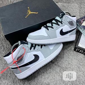 "Original Jordan 1 Mid""Light Smoke Grey"" Sneaker | Shoes for sale in Lagos State, Lagos Island (Eko)"