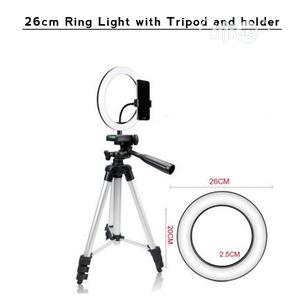 26cm Ring Light With Tripod Stand Holder   Accessories & Supplies for Electronics for sale in Lagos State, Ikeja