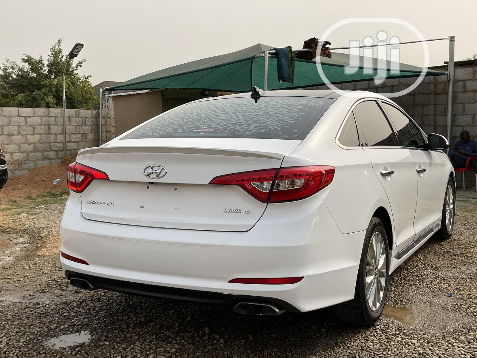 Hyundai Sonata 2015 White   Cars for sale in Jahi, Abuja (FCT) State, Nigeria