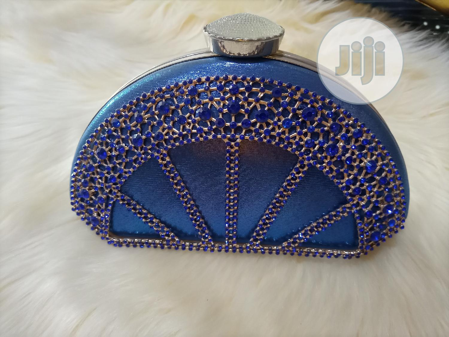 Blue Design Clutch Purse
