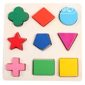 Montessori Wooden Geometry Signs Maths Puzzle Kids Toy Gift | Toys for sale in Lagos State, Ikeja