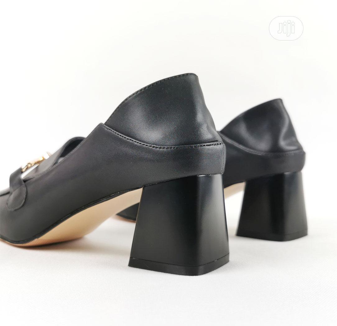 Archive: Black Block Heel Office Shoes for Women