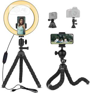 20cm Ring Light With Flexible Octopus Phone Holder   Accessories & Supplies for Electronics for sale in Lagos State, Ikeja