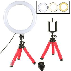 Octopus Flexible Phone Holder With 20cm Ring Light   Accessories & Supplies for Electronics for sale in Lagos State, Ikeja