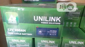 Unilink 12V 200ah Deep Cycle Battery | Solar Energy for sale in Lagos State, Ojo
