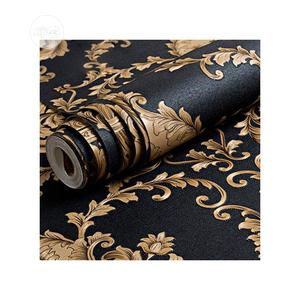 European Luxury Classic Gold and Black Embossed Wallpaper | Home Accessories for sale in Lagos State, Ikotun/Igando