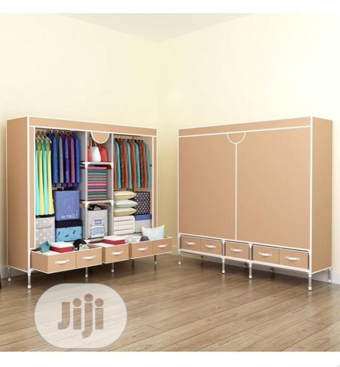 Quality Wardrobe +5 Drawers ( Big Size L-185x B-45x H-172cm)
