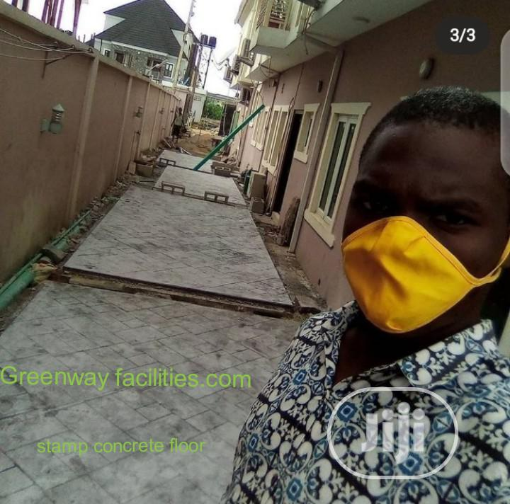 Stamp Floor Installation Service | Cleaning Services for sale in Gbagada, Lagos State, Nigeria
