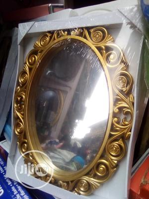 Portable Gold Fancy Wall Mirror | Home Accessories for sale in Lagos State, Amuwo-Odofin