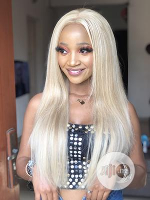 Raw Virgin Super Double Drawn Blonde Frontal Wig   Hair Beauty for sale in Lagos State, Amuwo-Odofin