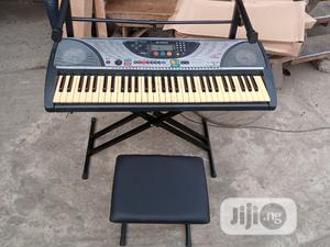 Yamaha Keyboard With Double Stand and Seat   Musical Instruments & Gear for sale in Lagos State, Mushin