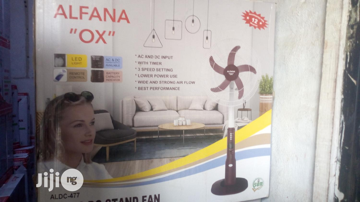 Alfana OX 18 Inches AC DC Rechargeable Standing Fan