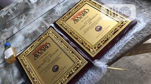 Golden Frame Award Plaque With Golden Medalon | Arts & Crafts for sale in Lagos State, Surulere