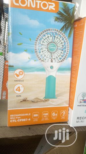 Lontor Rechargeable Mini Hand Fan With Lithium Battery | Home Appliances for sale in Oyo State, Egbeda