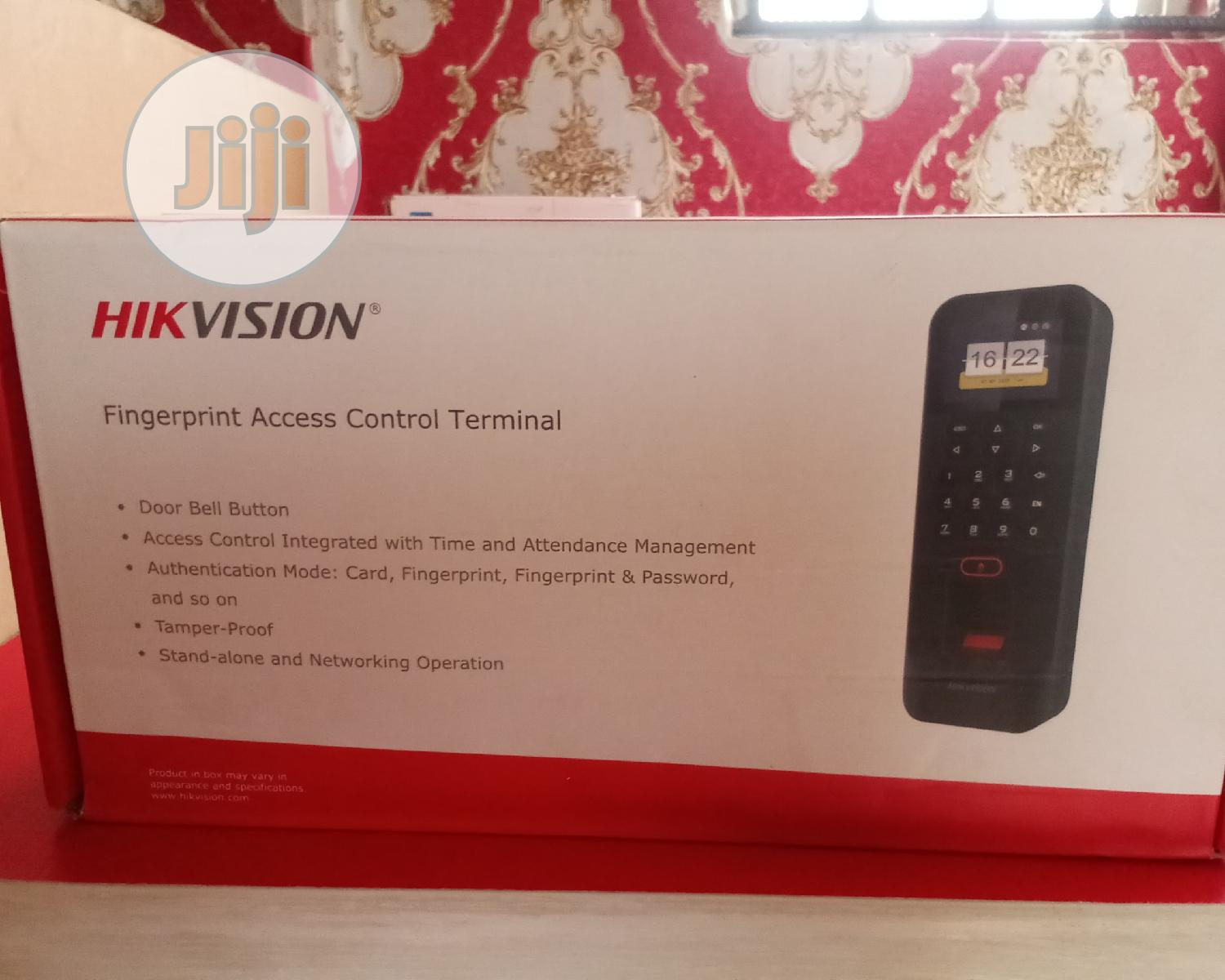 Hikvision Fingerprint Access Control Terminal | Security & Surveillance for sale in Ikeja, Lagos State, Nigeria