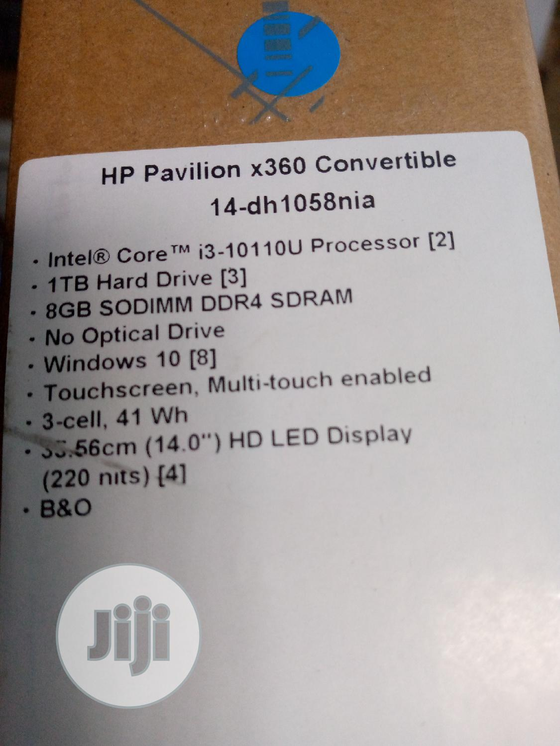 New Laptop HP Pavilion X360 14 8GB Intel Core I3 HDD 1T | Laptops & Computers for sale in Ikeja, Lagos State, Nigeria