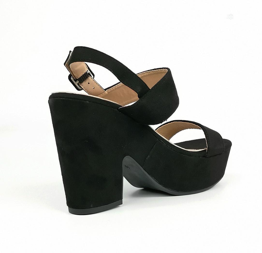 Archive: Black Flatform Block Womens Sandals