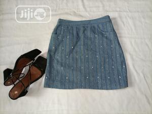 Shiny Denim Skirt.   Clothing for sale in Lagos State, Ikeja