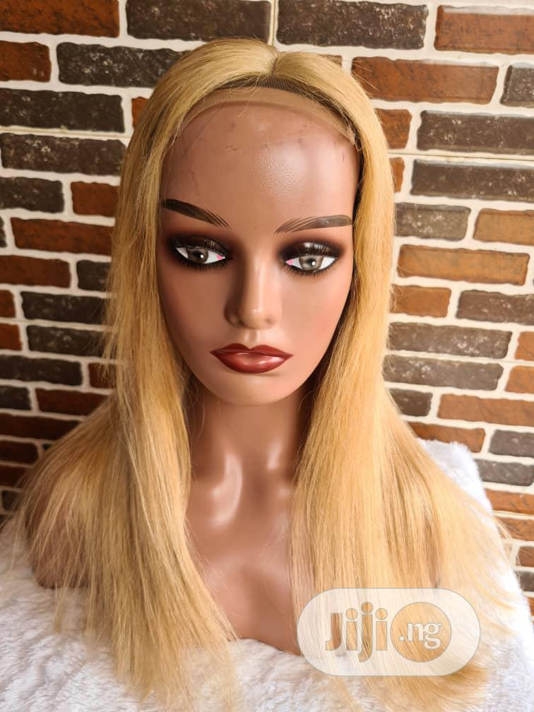 18 Inches Blonde Full Blon Wig