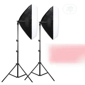 2 Pieces of Photo Studio Soft Box Light +Tall Light Stand | Accessories & Supplies for Electronics for sale in Oyo State, Ibadan
