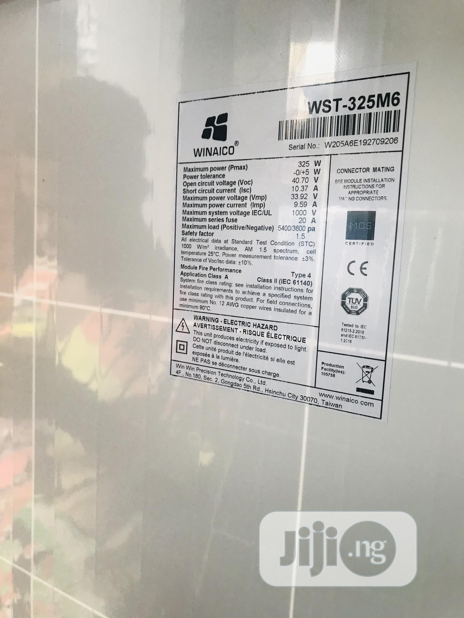 Winaico Solar Panel 325 Watt With 25 Years Warranty   Solar Energy for sale in Central Business Dis, Abuja (FCT) State, Nigeria