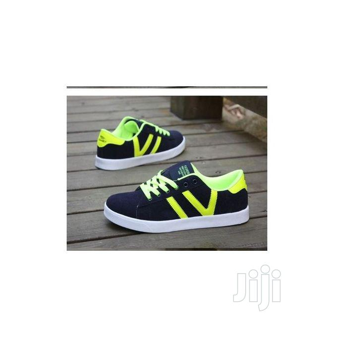 Classic Men Lace Up Seude Sneakers Shoes-Blue | Shoes for sale in Amuwo-Odofin, Lagos State, Nigeria