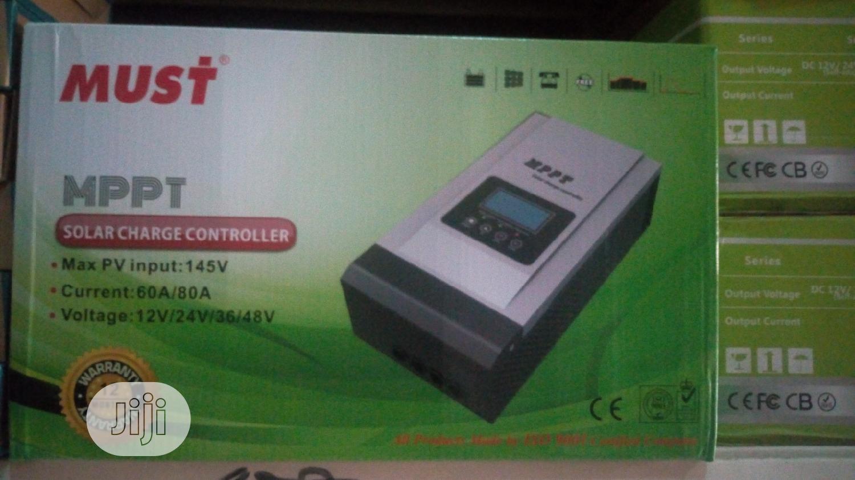 Must 12v/24v/36v/48v 60a/80a MPPT Charge Controller