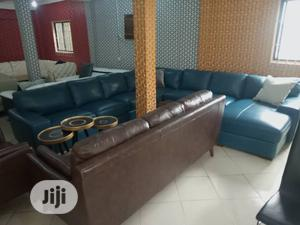 Imported Turkey Leather Chair, With Animal Skin   Furniture for sale in Lagos State, Ikeja