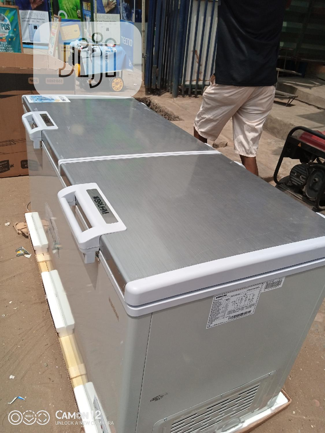 Brhum Double Door Chest Freezer Bcd 500 M | Kitchen Appliances for sale in Ojo, Lagos State, Nigeria