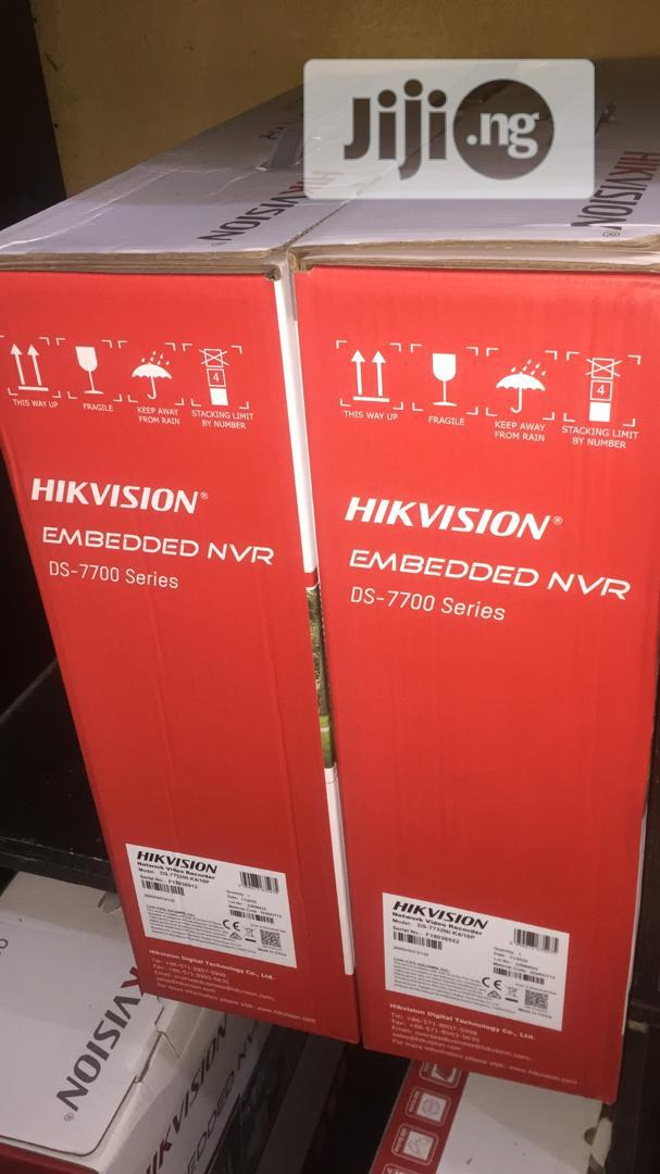Hikvision DS-7732NI-K4/16P 7700 SERIES 32 CH NVR 16poe (4 HD | Security & Surveillance for sale in Ikeja, Lagos State, Nigeria