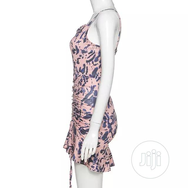 Summer Tie Dye Strap Slit Mini Club Dress | Clothing for sale in Lekki, Lagos State, Nigeria